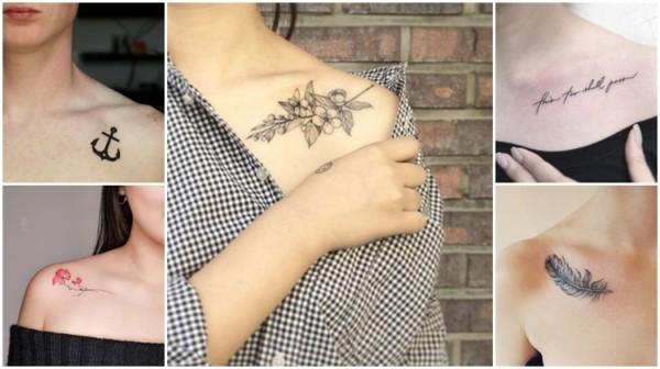tatuagem na clavícula