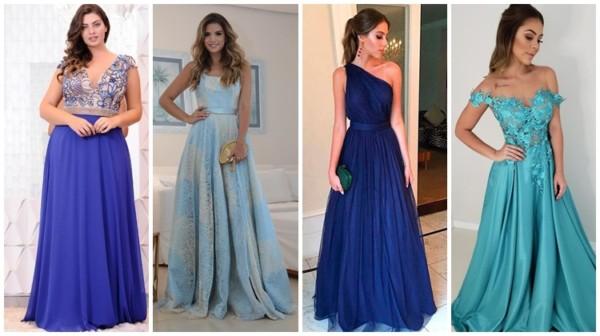 Vestido de madrinha azul – 61 opções e modelos lindíssimos!