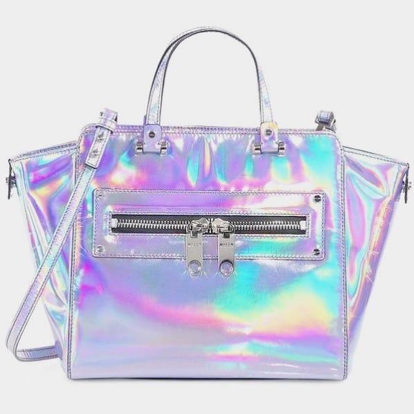 bolsa feminina holográfica