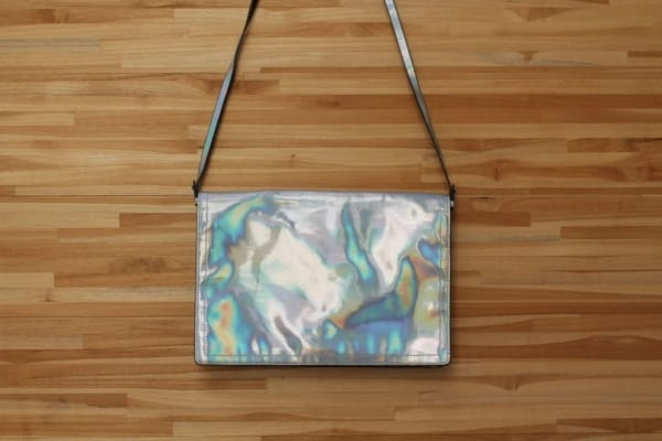 bolsa da Zara metalizada