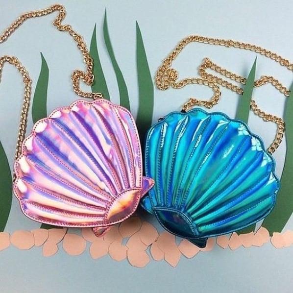 bolsa feminina de concha
