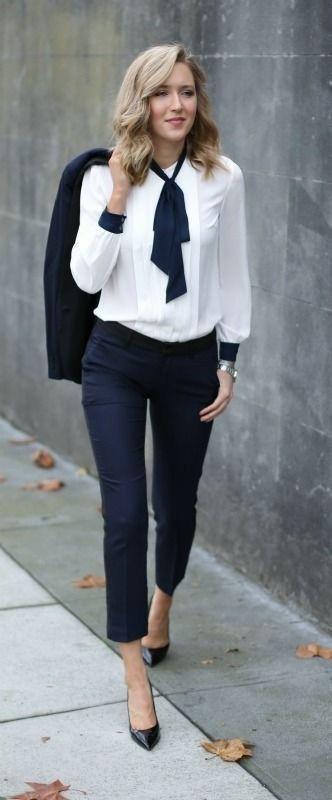look clássico com camisa branca
