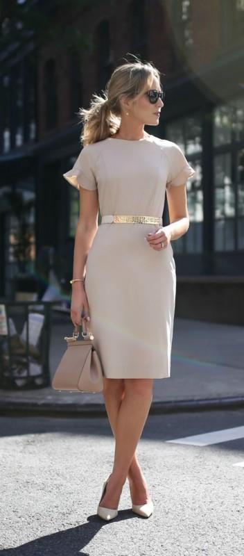 look clássico com vestido