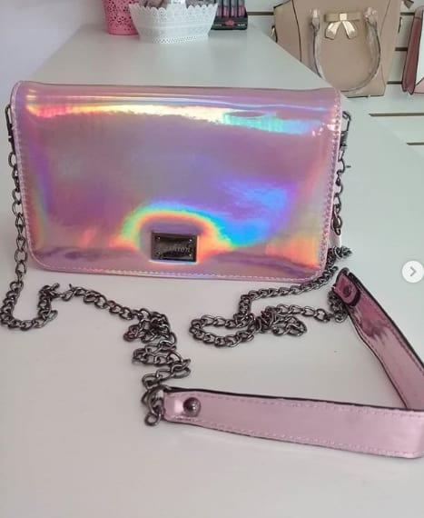 bolsa feminina cor de rosa