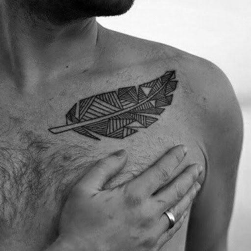 tatuagem geométrica masculina