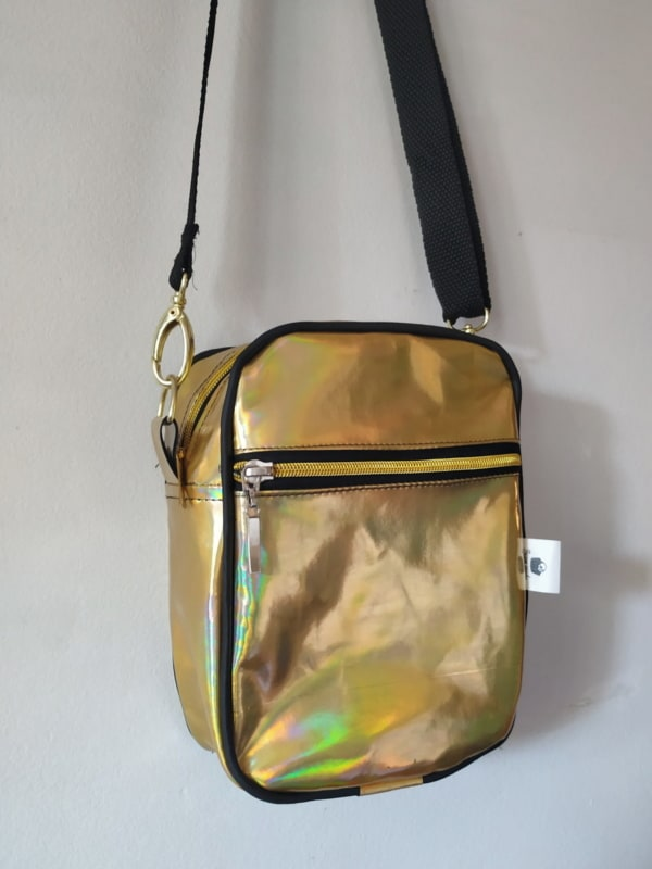 shoulder bag feminina dourada