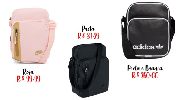 onde comprar shoulder bag Nike e Adidas