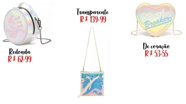 modelos e onde comprar bolsa holográfica