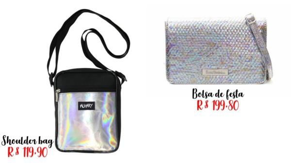 modelos e preços de bolsa holográfica