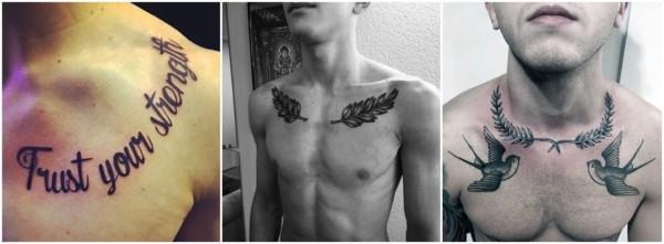tatuagem masculina na clavícula