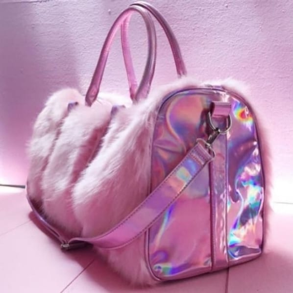 bolsa feminina grande com pelinhos
