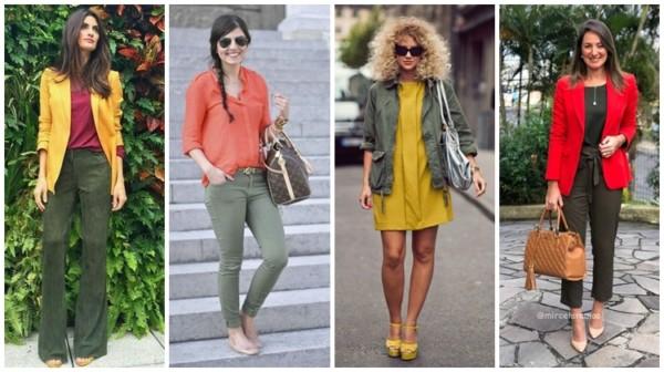 cores que combinam com verde militar