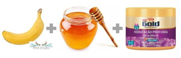 receita de hidratação de banana e mel