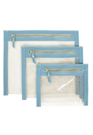 kit de nécessaires transparentes
