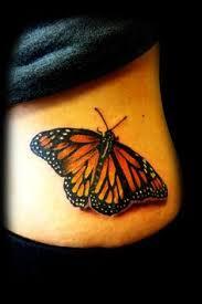 tatuagem de borboleta laranja