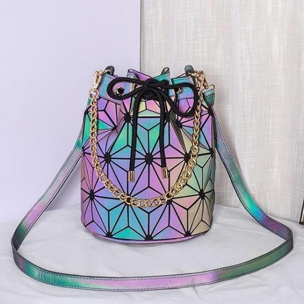 bolsa saco holográfica