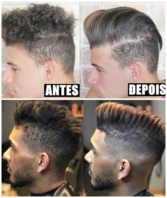 cabelo masculino com progressiva