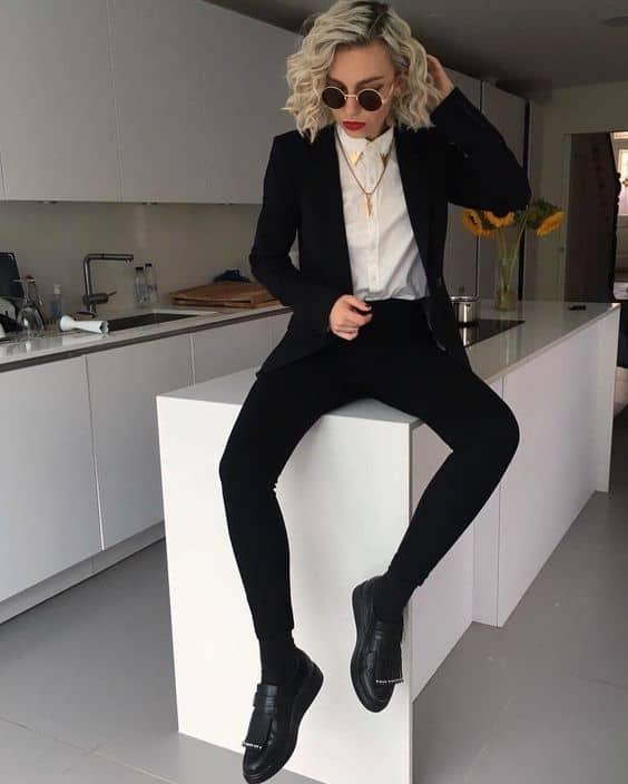 look tomboy com blazer