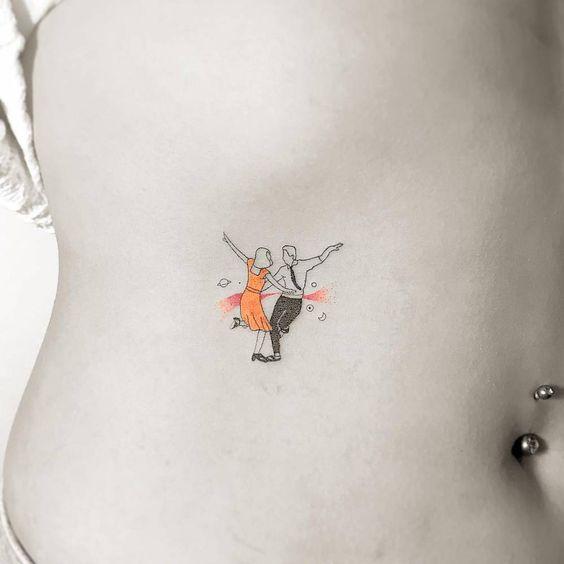 tatuagem feminina do filme la la land