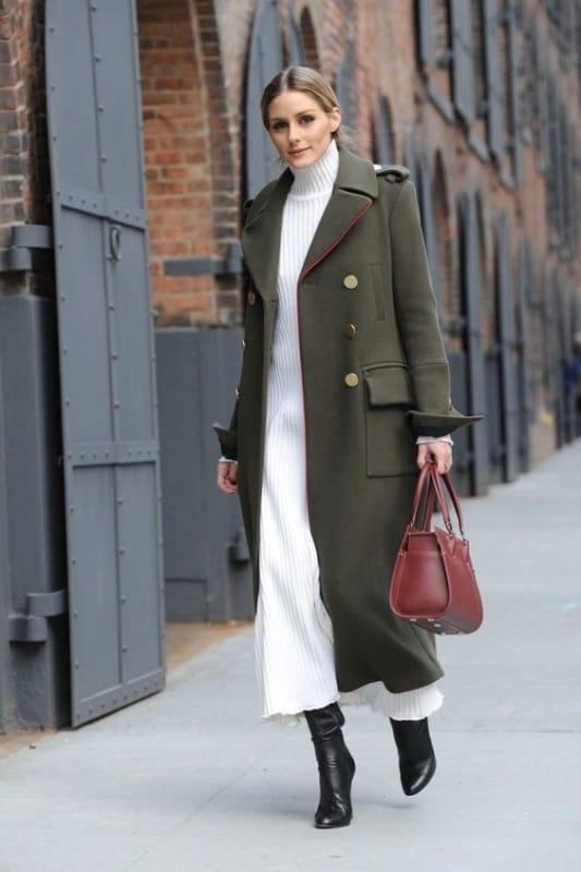 look com casaco de inverno longo
