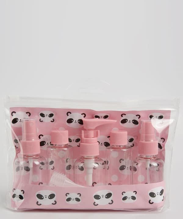 necessaire de viagem pequena com frascos