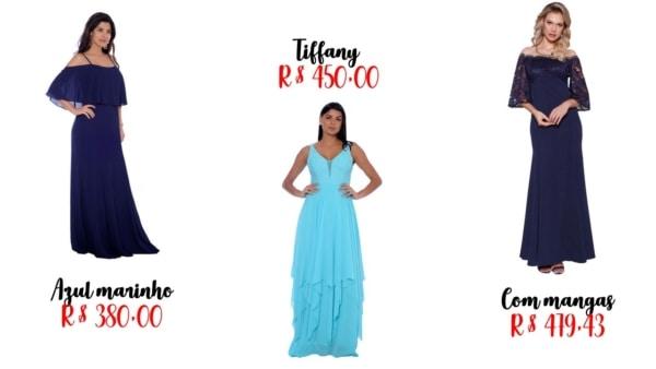 onde comprar vestido de madrinha azul