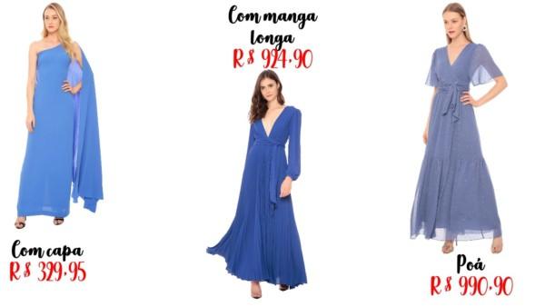 preços e onde comprar vestido de madrinha azul