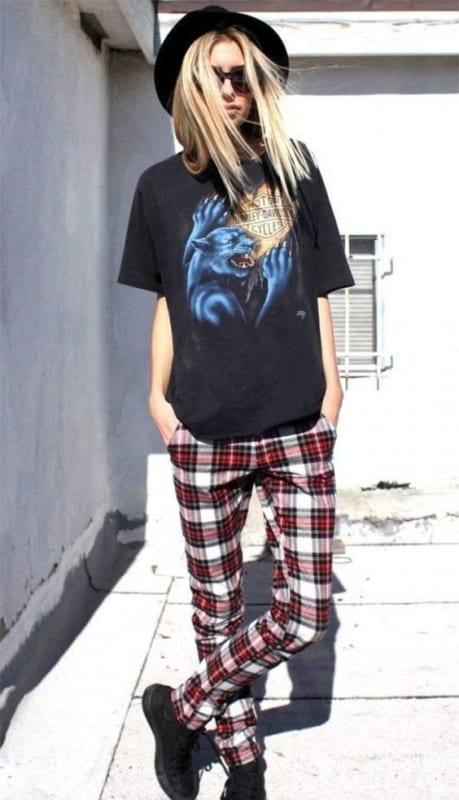 look punk para mulher