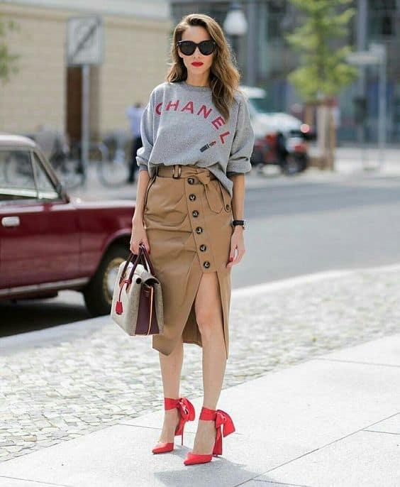 look street style com saia