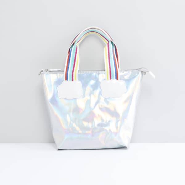 bolsa feminina com alça colorida