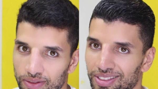 cabelo masculino com relaxamento capilar