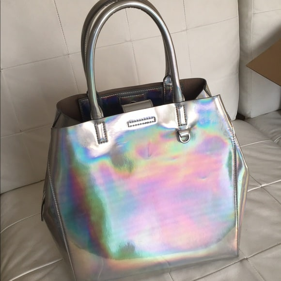 bolsa feminina metalizada