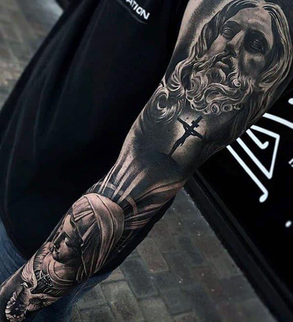 Jesus tatuagem realista 3D