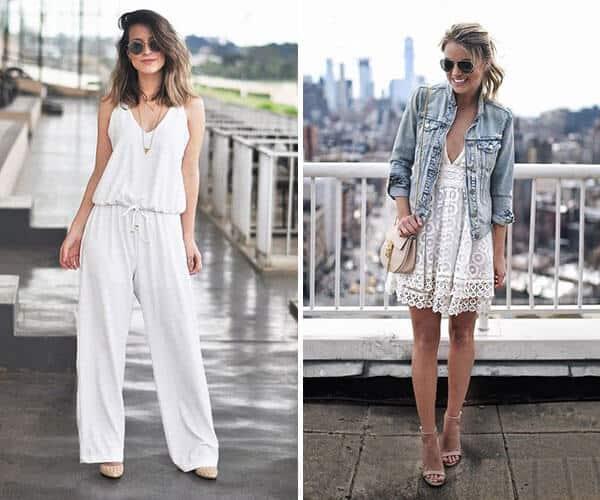 Looks brancos para o verão