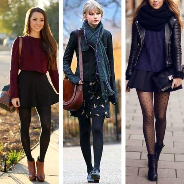 Looks de inverno com saia curta