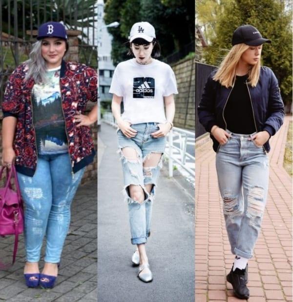 Looks femininos com calça jeans e boné