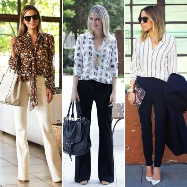 Looks femininos com camisas sociais
