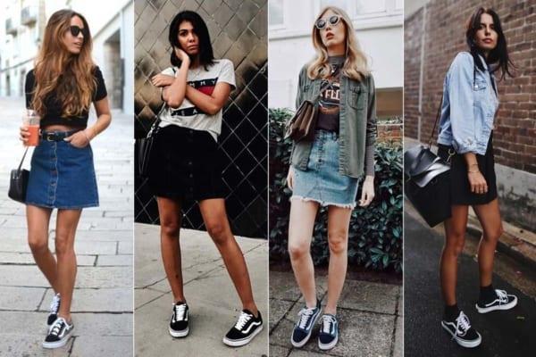 Looks femininos com tênis Vans