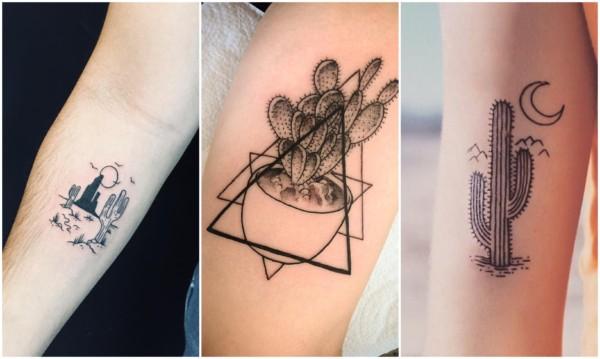 Modelos de tatuagem de cacto 2