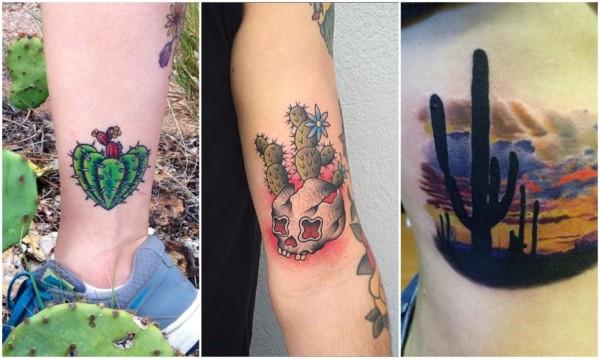 Modelos de tatuagem de cacto 3