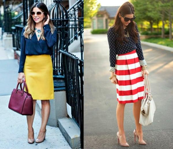 Peças coloridas para looks sociais