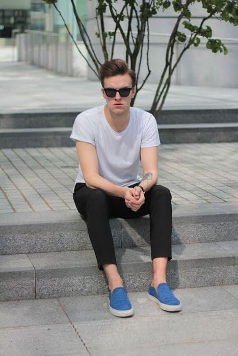 Slip on colorido azul