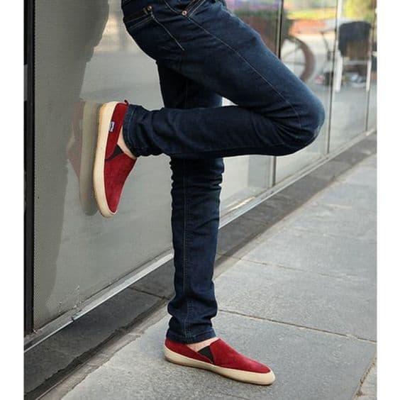 Slip on vermelho colorido