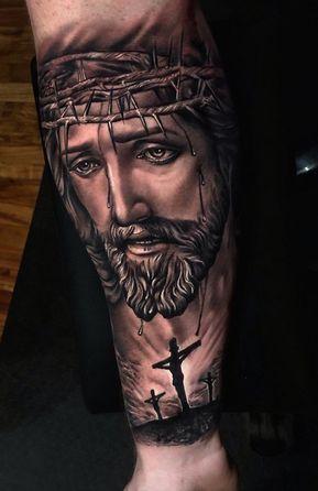 Tatuagem Jesus Cristo no braço ideias
