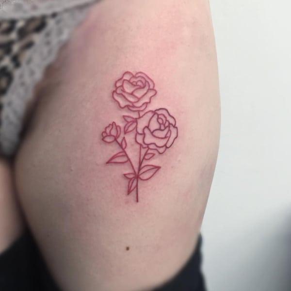 Tatuagem Vermelha fotos