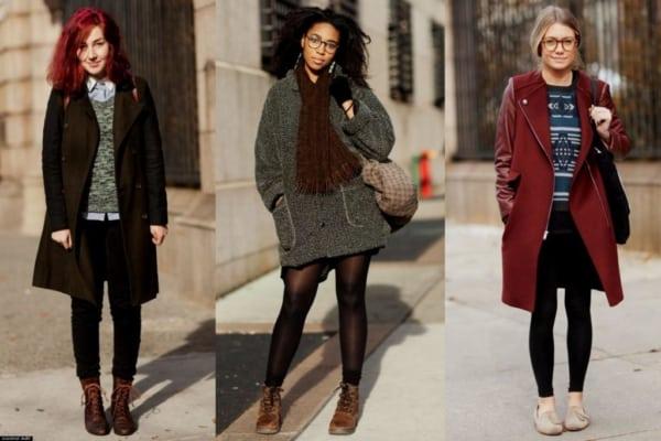 Três sugestões de looks de inverno femininos