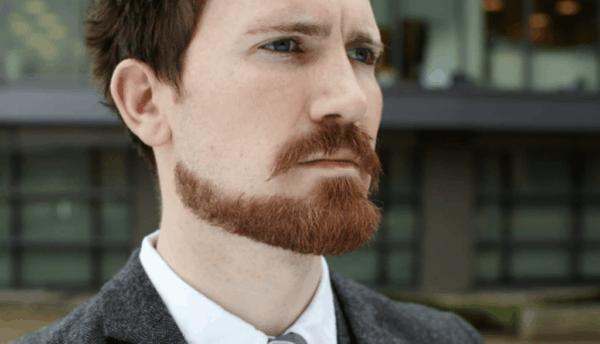 costeleta masculina com barba desenhada