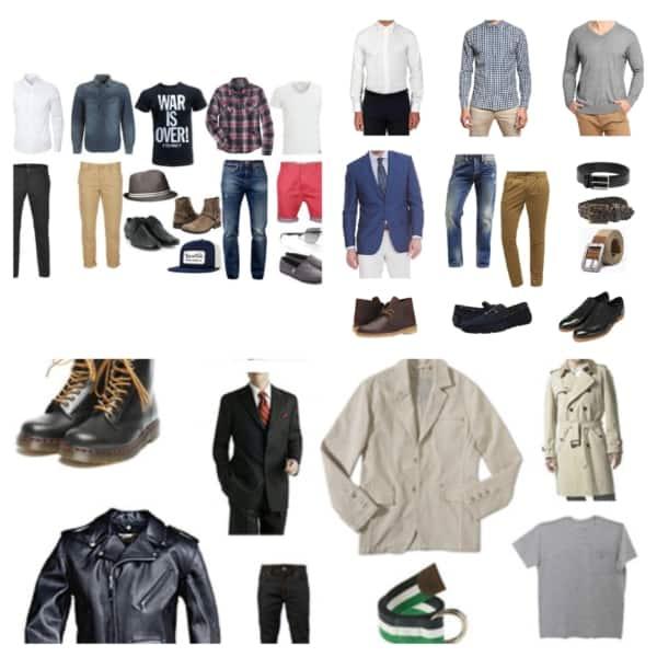 estilos de Roupas masculinas