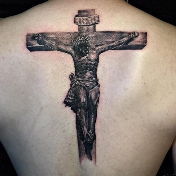 ideia de Tatuagem Jesus Cristo na cruz