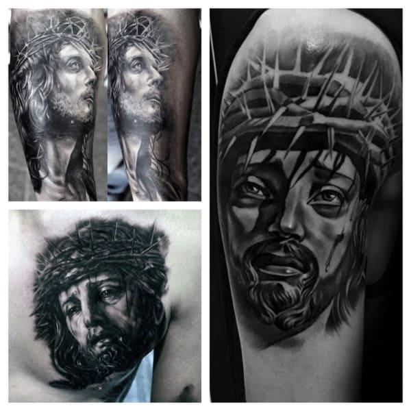 ideia de tatuagem de Jesus